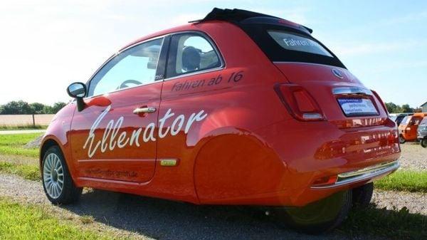 The custom Fiat 500 is a four-wheeled 'three-wheeler'