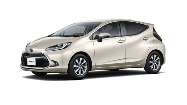 Toyota drives in fuel-efficient Aqua hybrid with better acceleration.