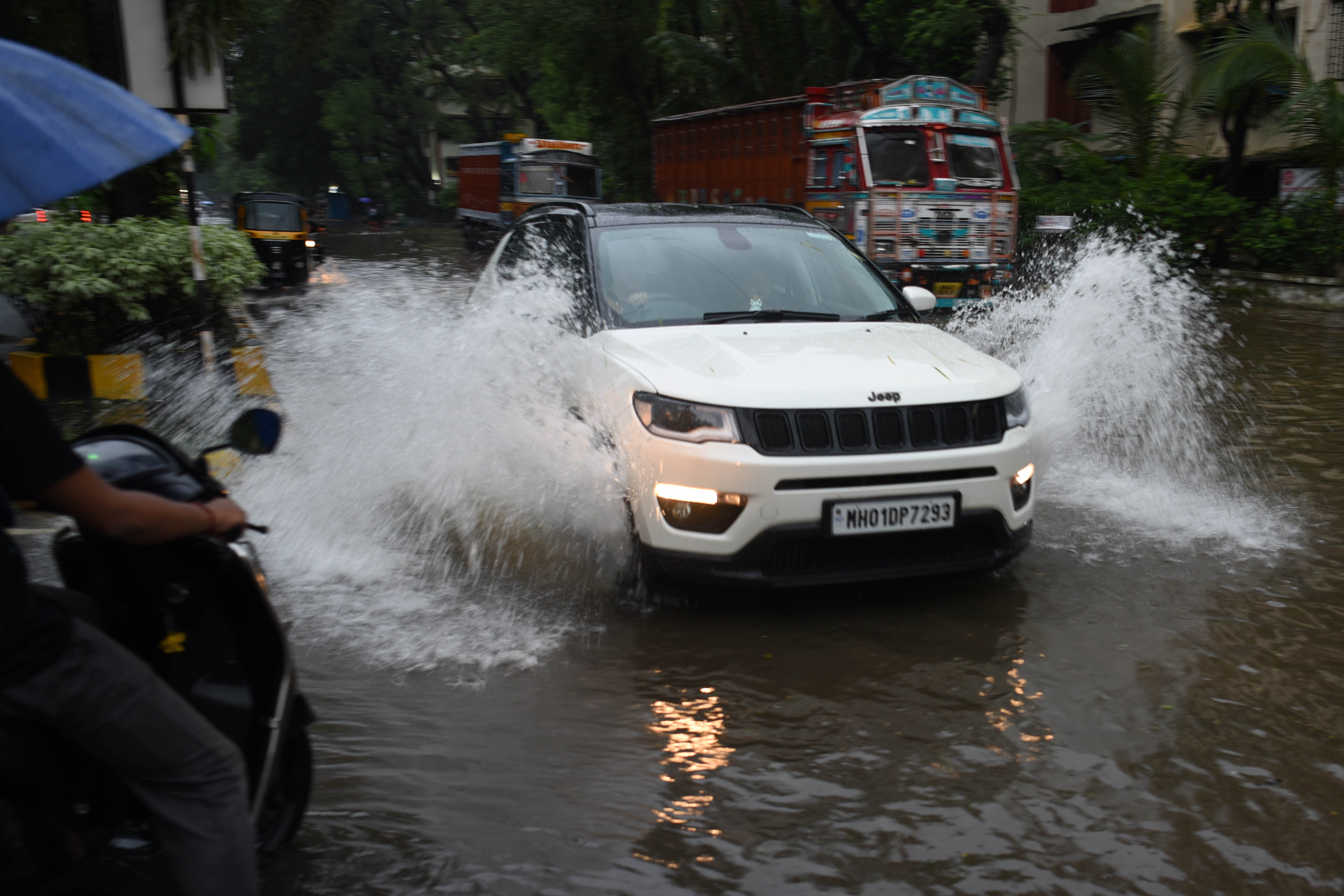 Closer home, Mumbai too has witnessed water-logged roads like this at CBD. (HT PHOTO)
