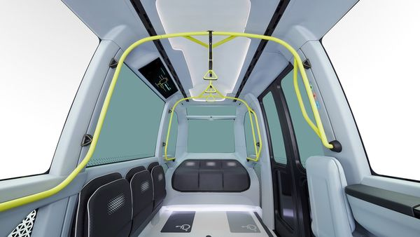 Inside the autonomous vehicle, its floor, trim, seats, and other components get a colour contrasts that assist people with colour-blindness. The vehicle also gets an external human-machine interface designed to assist communication during automated driving.