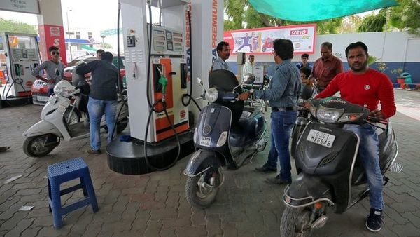 Petrol is currently selling at ₹101.84 per litre in Delhi, while diesel price in the national capital is ₹89.87 for a litre. (REUTERS)