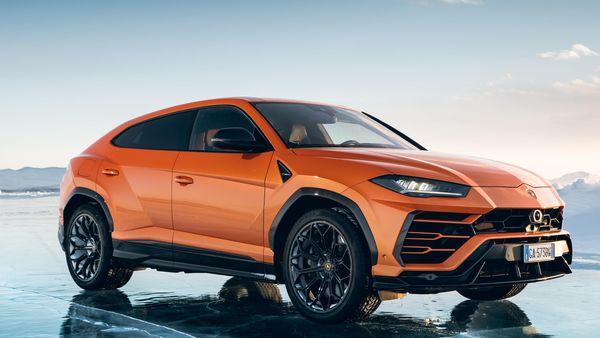 Lamborghini Urus SUV finished with orange exterior paint