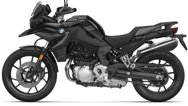 2022 BMW F 750 GS gets a new triple black colour scheme.