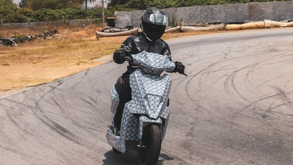 The first electric scooter from Simple Energy during test runs.