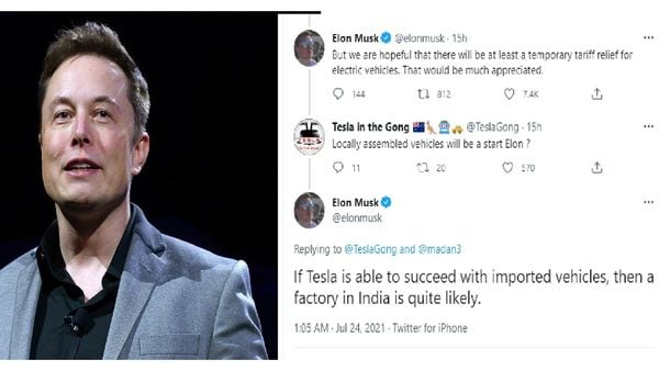 """Elon Musk responds to Indian user Tesla """"Indian plant likely"""""""