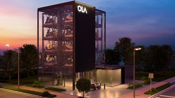 Ola's Hypercharger stations will get a multilevel layout to support several customers simultaneously. (Ola)