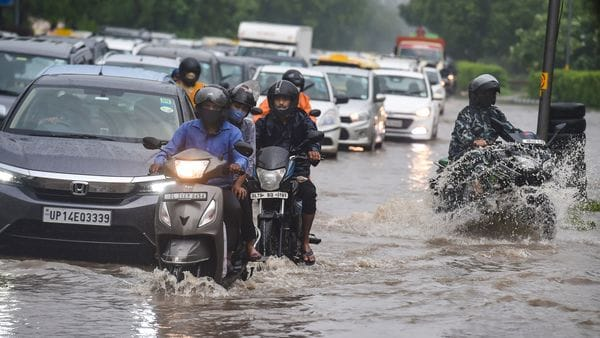 Delhi received the season's heaviest rainfall on Tuesday, leading to extensive waterlogging on several key road stretches across the city. Traffic various various key junctions had to be diverted to easy traffic cause due to waterlogging. (PTI)