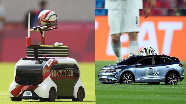 The tiny remote-controlled car from Toyota, used for match ball delivery during rugby games at Tokyo Olympics, reminded many of the Volkswagen ID.4 model used for same purpose during Euro 2021.