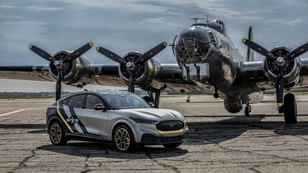 The money earned from the auction of the special Mustang Mach-E will be donated to support education for young women in the aviation industry.