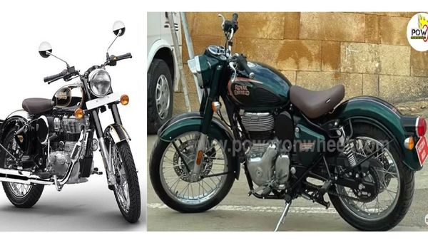The new-gen Classic 350 (right) will be a completely transformed bike in terms of design, looks and technology. (YouTube/PowerOnWheels)