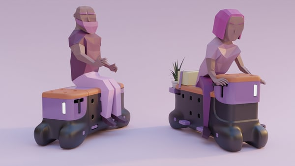 The rideable bench by Corentin Janel and Guillaume Innocenti won the Ford Fund Smart Mobility Challenge