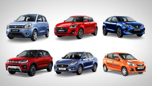 File photo of some of the several Maruti Suzuki cars offered in the Indian market.