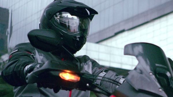 Screenshot of Honda's next motorcycle offering from a teaser video released by the company.
