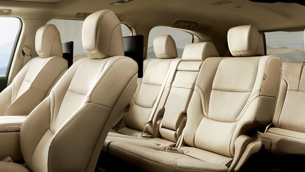 The front and second row of seats support heating and cooling while there is also a cool box for chilling beverages. It also has screens for entertainment. (Toyota)