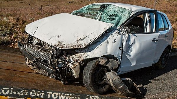 File photo of a smashed car used for representational purpose.