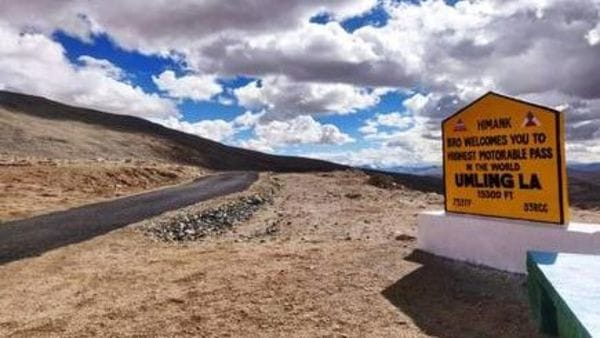 Umling La Pass, located in eastern Ladakh at an altitude of 19,300 feet above sea level, is now the world's highest motorable road.