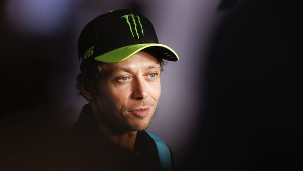 Yamaha-SRT Italian rider Valentino Rossi addresses a press conference to announce that he will retire at the end of the year, in Spielberg, Austria. (AFP)