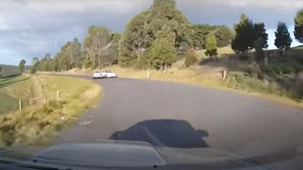 Screengrab from the video posted on YouTube by Dash Cam Owners Australia.