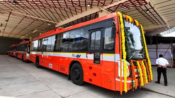 CM Uddhav Thackeray inaugurates BEST electric buses and a revamped bus station with four tracks and bus stops at Mahim, in Mumbai, India. (Satish Bate/HT PHOTO)