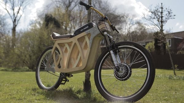 DIY wooden electric bicycle (Image courtesy: Evie Bee)
