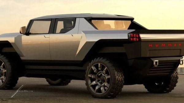 The front profile and cabin of the proposed concept have not been revealed in the social post. (Image: Instagram/General Motors Design)