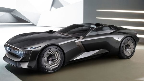 With the press of a button, the Audi concept car can be converted from a grand tourer to a sports car in just few seconds. The electric concept car has the unique ability to extend its wheelbase and ground clearance whenever required.