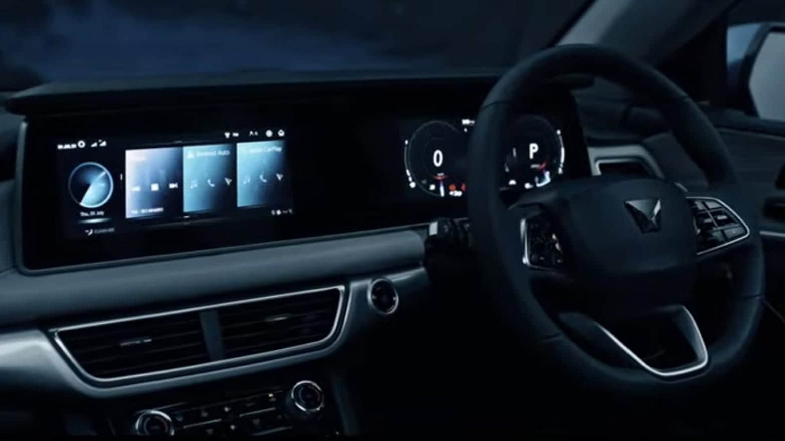 Mahindra XUV700 has a loaded cabin with 10.25-inch screens, a massive and best-in-segment sunroof, 12-speaker Sony system with 3D sound and AdrenoX interface which allows for compatibility with Alexa Voice.