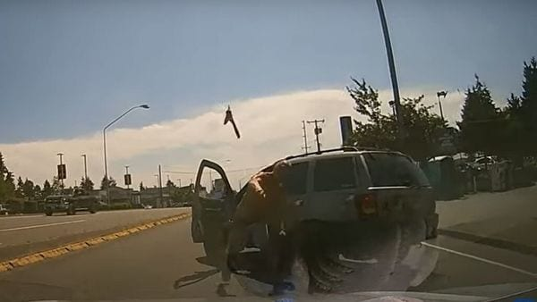 Screengrab from the video posted on YouTube by Q13 FOX Seattle.