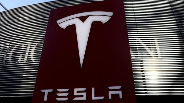 File photo: A logo of the electric vehicle maker Tesla is seen near a shopping complex in Beijing, China. (REUTERS)