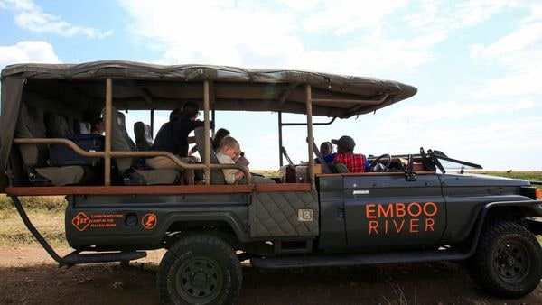 The Kenyan reserve has converted its off-road safari vehicles from diesel and petrol to electric vehicles. (Reuters)