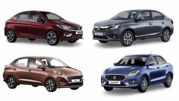 2021 Honda Amaze facelift (top right) was launched this week. It will take on rivals like Maruti Suzuki Dzire, Hyundai Aura and Tata Tigor in the sub-compact sedan segment in India.