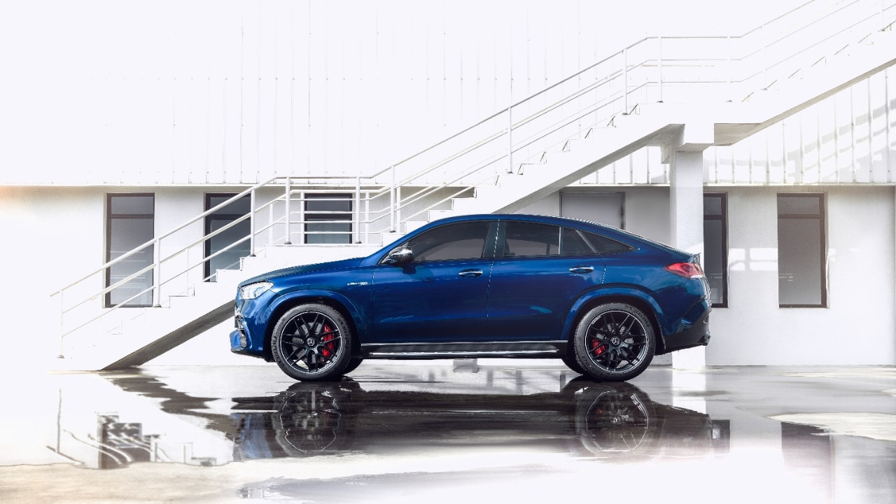 Mercedes AMG GLE 63 Coupe stands on 22-inch alloys.