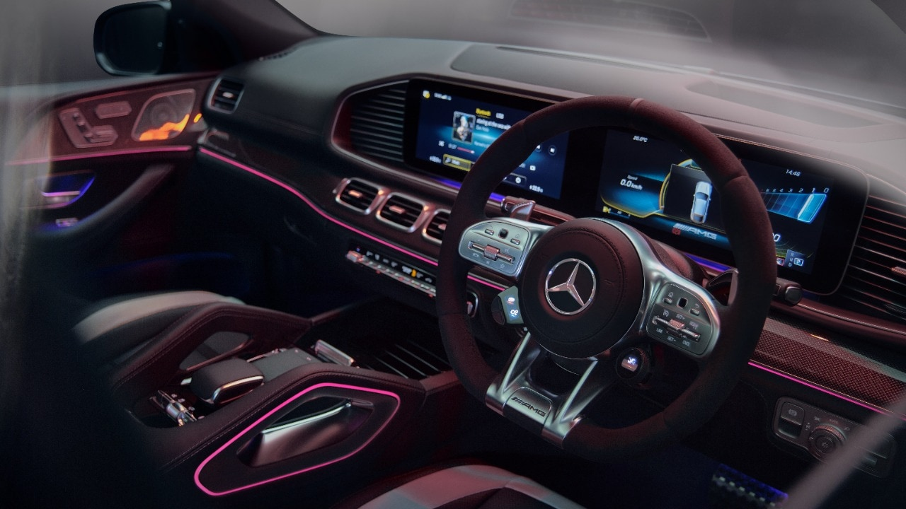 A look inside the just-launched Mercedes AMG GLE 63 Coupe.