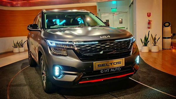 The Indian-spec Seltos X-Line comes with a sinister-looking, dark matte finish along with a few visual updates (HT Auto)