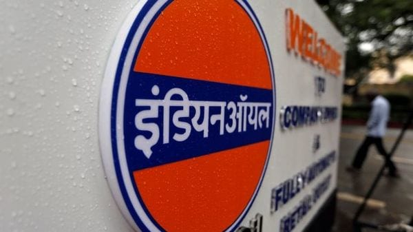 A logo of Indian Oil is picture outside a fuel station in New Delhi. (File photo) (REUTERS)
