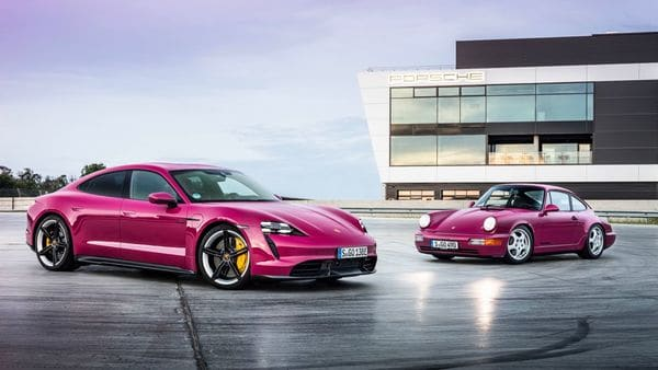 The popular Porsche Taycan EV will also now come with improved thermal management and charging functions. (Porsche)