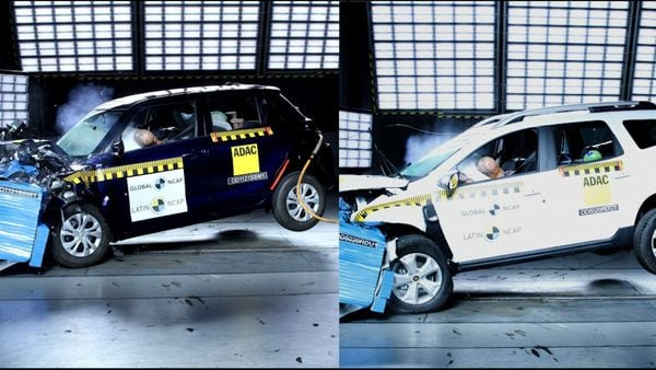 Maruti Suzuki Swift (left) and the all-new Renault Duster (right) scored zero points in the Latin NCAP crash tests recently.