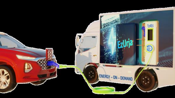 EzUrja mobile EV charging station (Ez4EV)