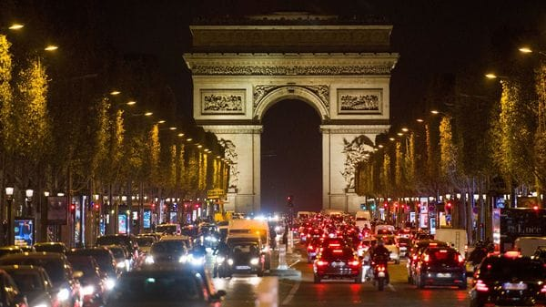 File photo of vehicles plying in front of the Champs Elysees in Paris, France. (Bloomberg)