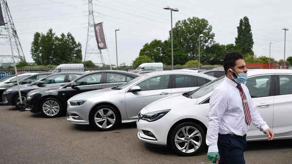 Vehicles sales in India is yet to reach the FY2020 level, claims the study. (AFP)