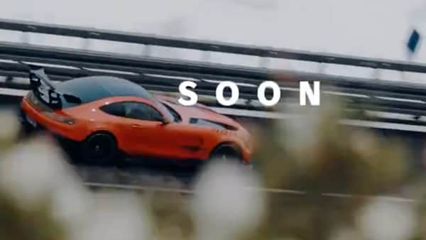 The upcoming Mercedes-AMG model, which is said to be a plug-in hybrid variant of the GT63 4-door coupe and has more than 800 hp of power, will be unveiled on September 1. (Photo courtesy: Twitter/@MercedesAMG)