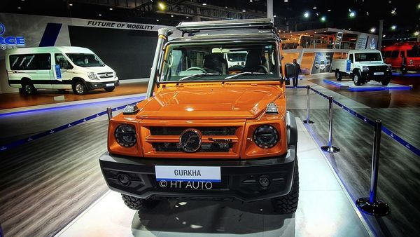 Force Gurkha SUV on display at the Auto Expo 2020. This was the pre-production version of the off-road SUV. However, Force Motors is expected to keep most of the design elements in the final production version. (Photo credit: Sabyasachi Dasgupta/HT Auto)