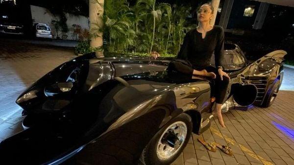 This Batmobile featured in 1989 Batman and 1992 Batman Returns movies. (Instagram/Shaira Ahmed Khan)