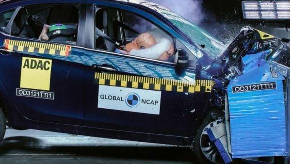 Tata Tigor EV at the Global NCAP crash test