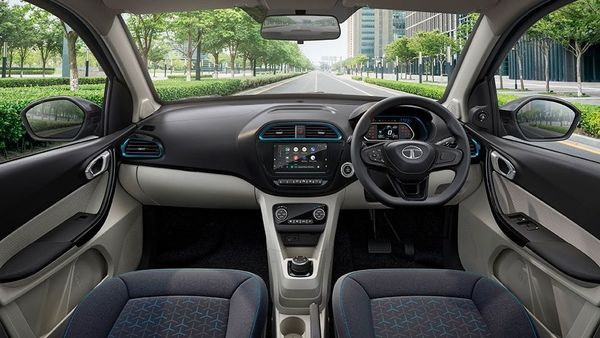 The Tata Tigor EV will boast a seven-inch screen in the cabin while there are around 30 connected car features on offer. (Tata Motors)