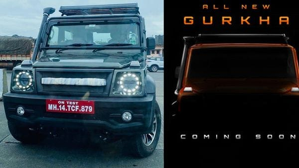 2021 Force Gurkha off-road SUV was spotted without camouflage (left) recently in Maharashtra. (Photo courtesy: Facebook/@autowheelsind)