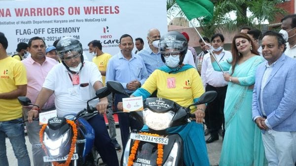 The donated units of the Hero bikes and scooters will be allocated to the health workers across the state of Haryana.