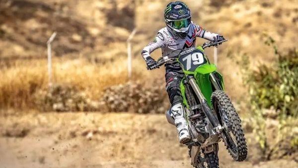 The updated Kawasaki dirt bikes come with a lightweight aluminium perimeter frame.