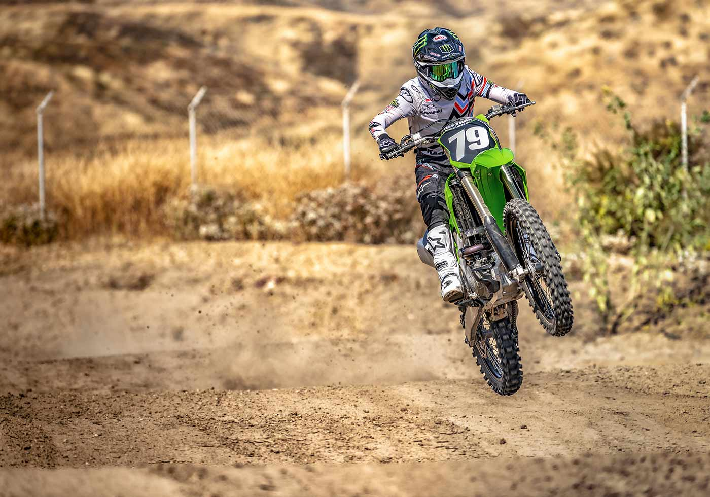 The KX250 has been designed for track/dirt use only. It is not street legal as it doesn't come with a headlight, taillight, turn indicators, or rear-view mirrors.
