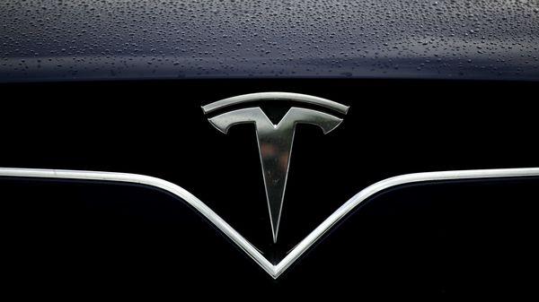 File photo of Tesla logo (AFP)